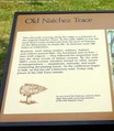 Old Natchez Trace route explained on an informational sign