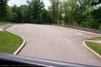 Parking lot at Old Trace hiking trail