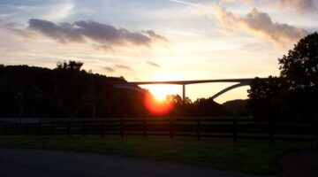 The Sun Goes Down On The Natchez Trace Bridge