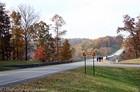A common sight on this beautiful Fall day... leaf peepers walking on the awesome Natchez Trace Bridge. It's slightly weird to ride your bike or walk along this bridge, because the sides are relatively low, and the bridge itself is relatively high.