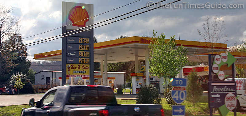 The first and last gas station on the natchez trace - Garden state parkway gas stations ...